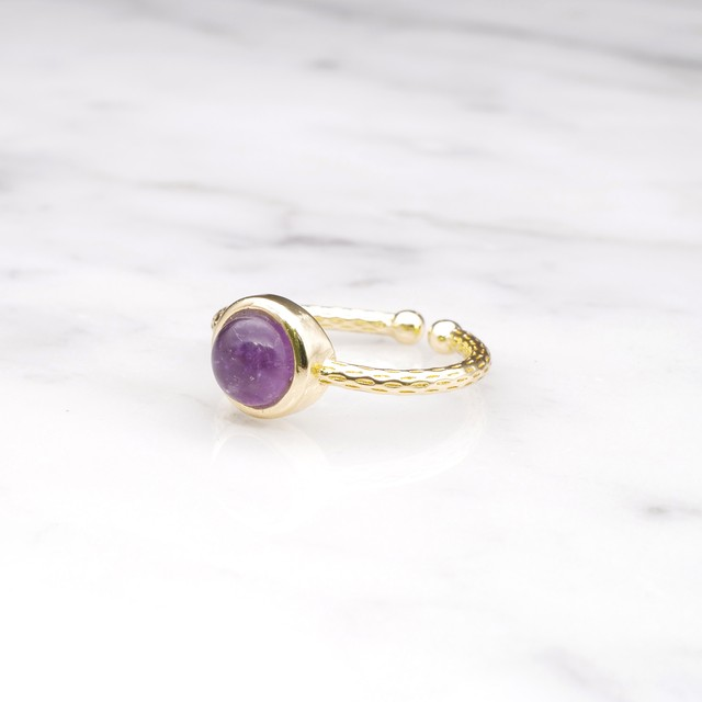 SINGLE MINI STONE RING GOLD 092