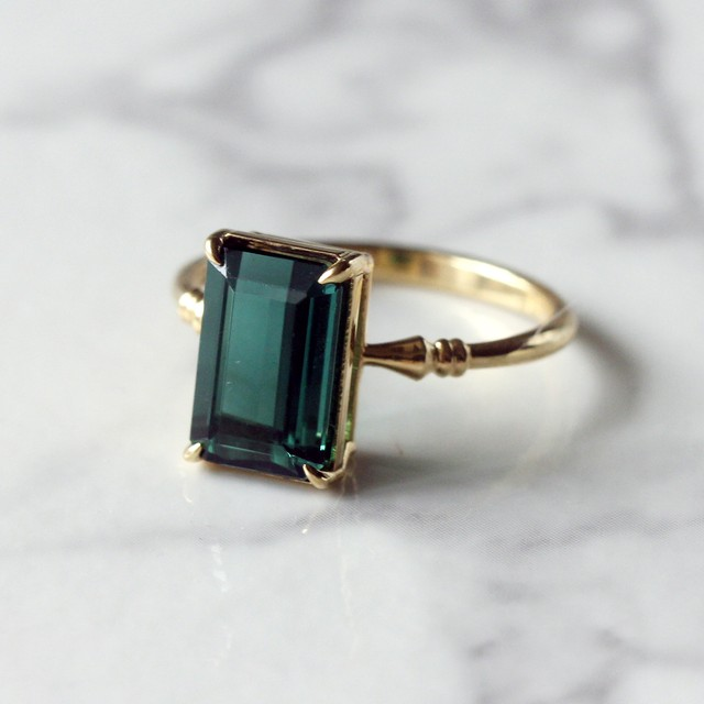 Tourmaline ring /K18YG