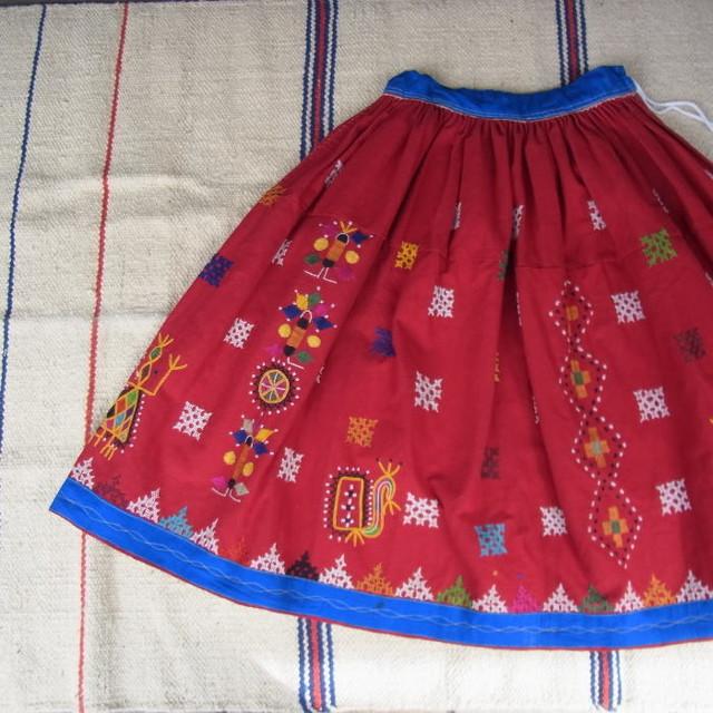 グジャラート刺繍ギャザーロングスカート TYPE:C - メイン画像