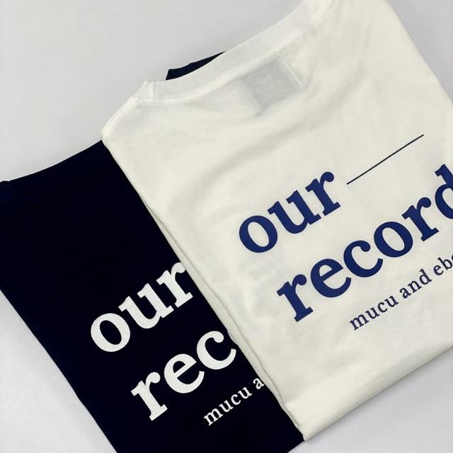 [mucu&ebony] our record Tシャツ(全3色)