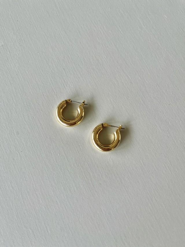 【予約】tiny hoop pierce K18GP  / yellow gold  (6月中旬発送予定)