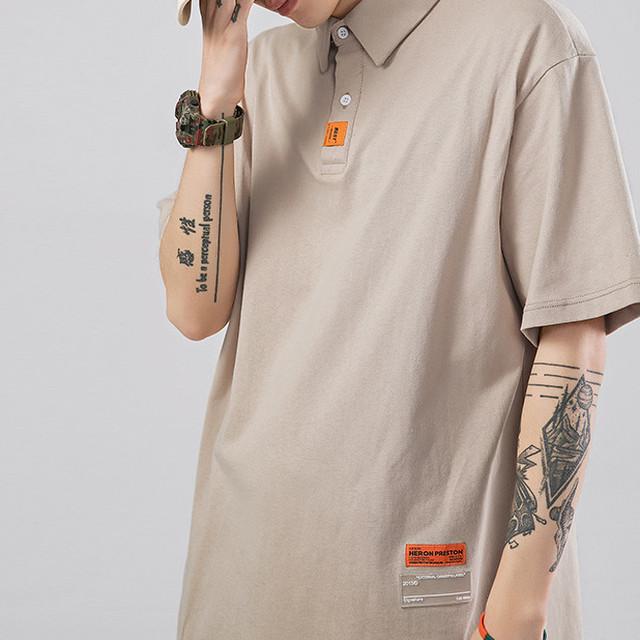 3:AM ユニセックス ラベルデザイン ポロシャツ