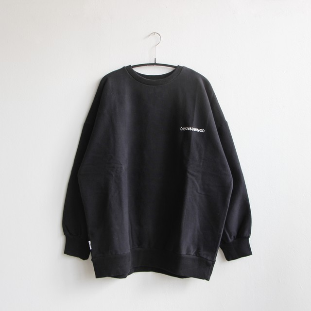 《MINGO. 2020AW》Sweater / logo black / adult