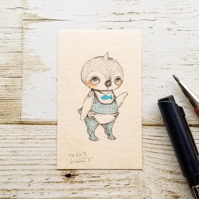 ペンギンの赤ちゃん*ドローイング