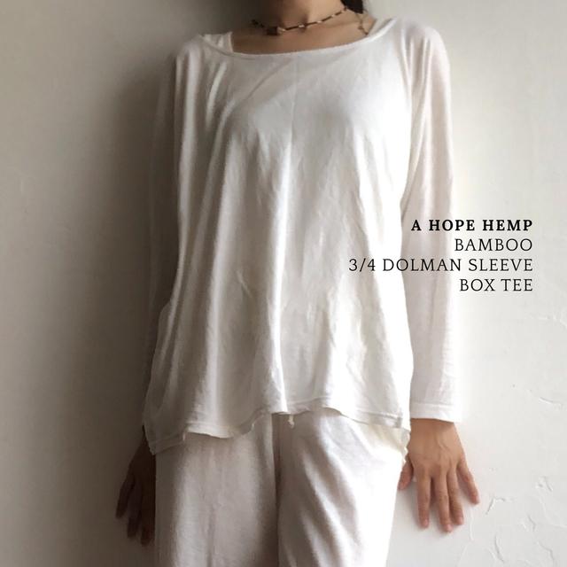 A HOPE HEMP バンブードルマンスリーブTシャツ
