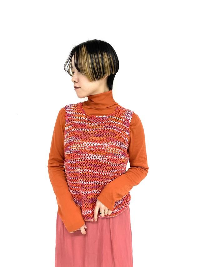 marble knit vest / 3SSTP06-08