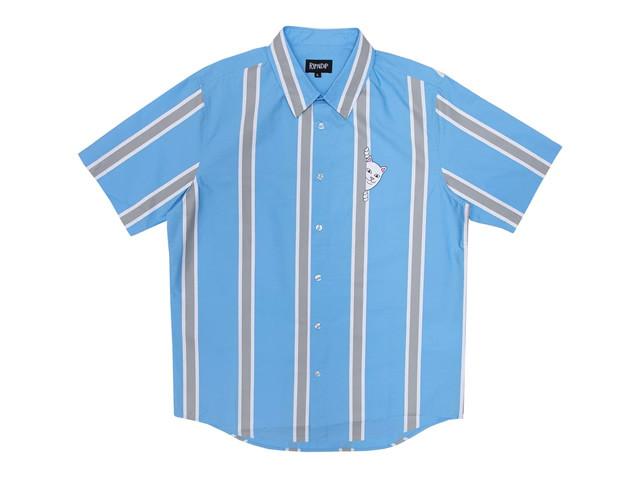 RIPNDIP|Peek A Nermal Button Up (Blue / Gray)