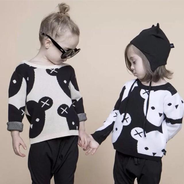 【トップス】安くてかわいい配色熊柔らかいセーター24942963