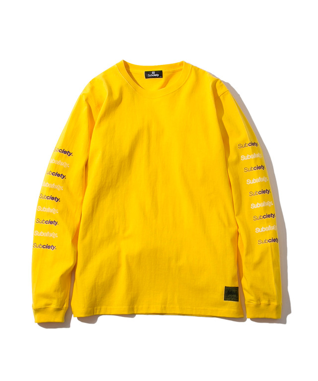 【Subciety | サブサエティ】RE:BASE L/S (Yellow)
