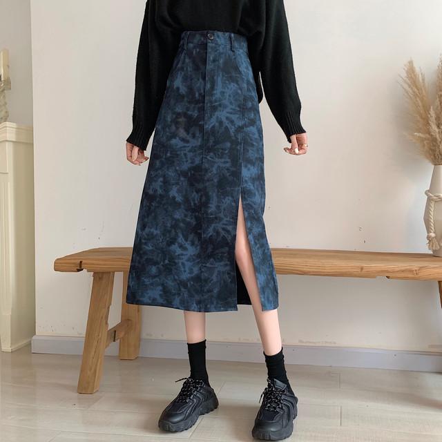絞り染めロングスカート
