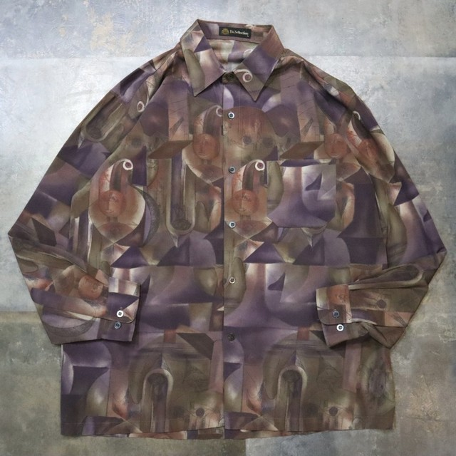 pattern all over purple art shirt