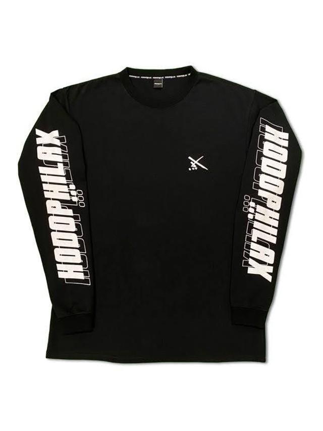 ロングTシャツ シンプル ブラック HPX-20140