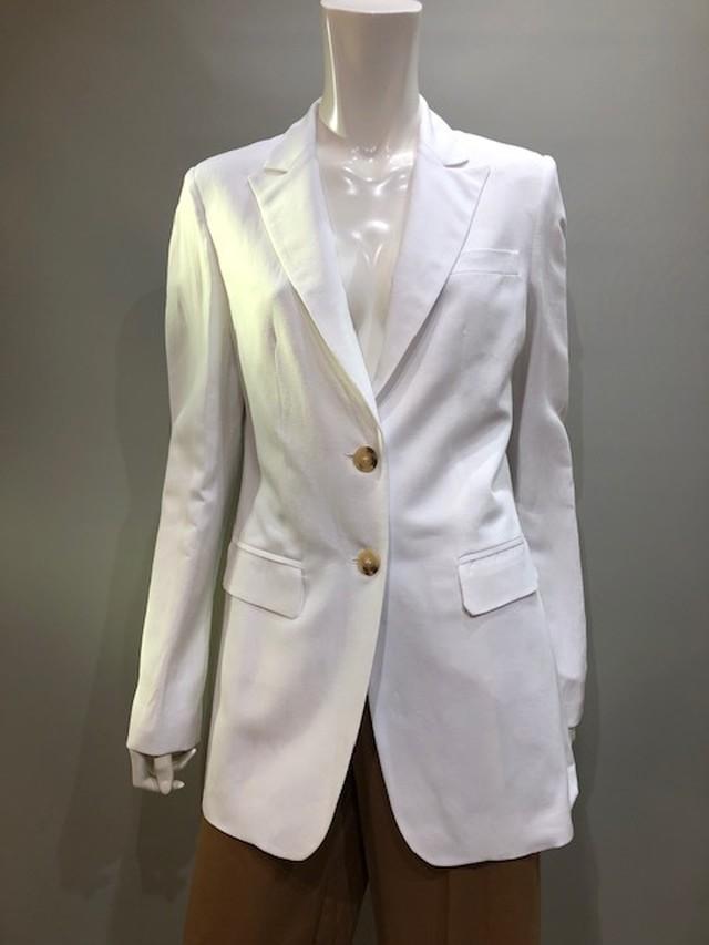 GOODMATCH (グッドマッチ)AB5115 Col.U02(White) レーヨン麻(リネン)テーラードジャケット イタリア製