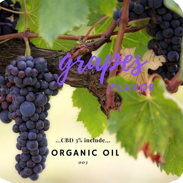 Organic Oil Grape Flavor CBD-3%