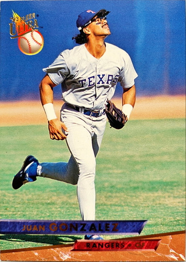 MLBカード 93FLEER Juan Gonzalez #279 RANGERS