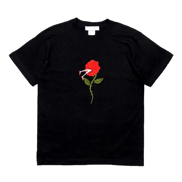 刺繍Tシャツ バラ
