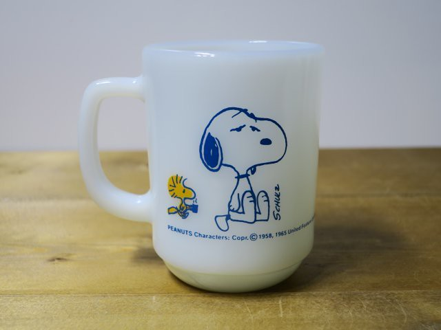 Fire King 9オンスマグ SNOOPY COFFEE BREAK
