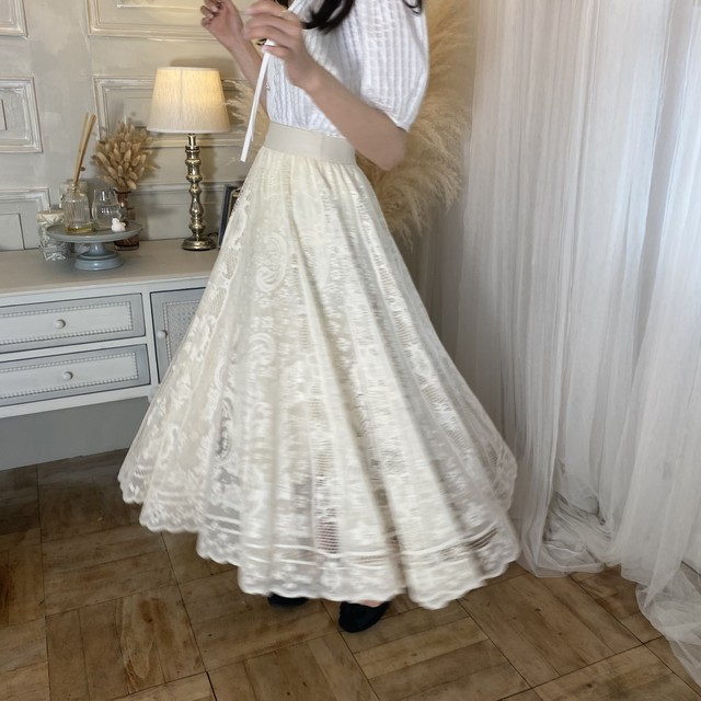 【NEW】lace long skirt