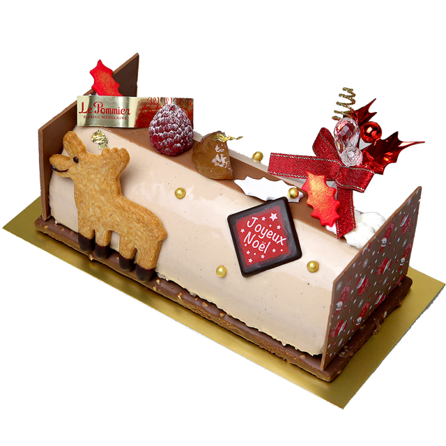 ◆冷凍配送ケーキ◆ビュッシュ・マロン・ユズ(6名様分)