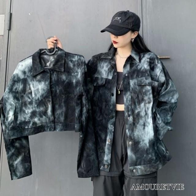 ロングシャツ ジャケット ロング ショート カジュアル スタイリッシュ ストリート ピープス オルチャン 韓国ファッション 1684