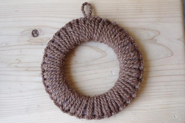 紀州産棕櫚の手編み鍋敷き(中)