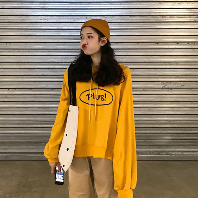 【tops】カジュアル韓国系長袖着痩せ薄手合わせやすいフード付きプリントパーカー