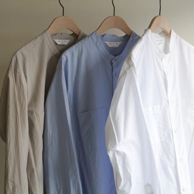 STILL BY HAND【 mens 】linen band collar shirts