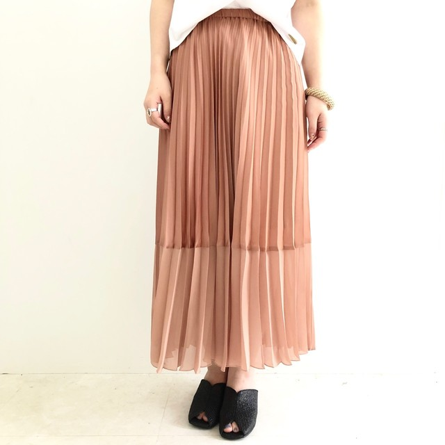 【 QTUME 】プリーツ切り替えスカート