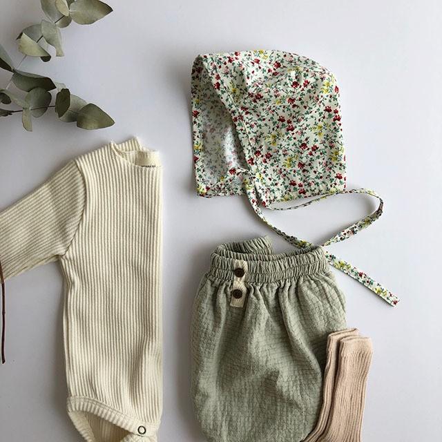 (即納) CHEZMOI Flower Garden bonnet 花柄 ボンネット:イエローフラワー J3312MEX9013020232