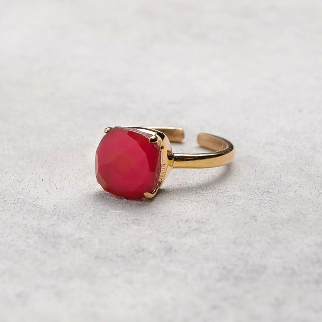 SINGLE STONE ADJUSTABLE RING 013