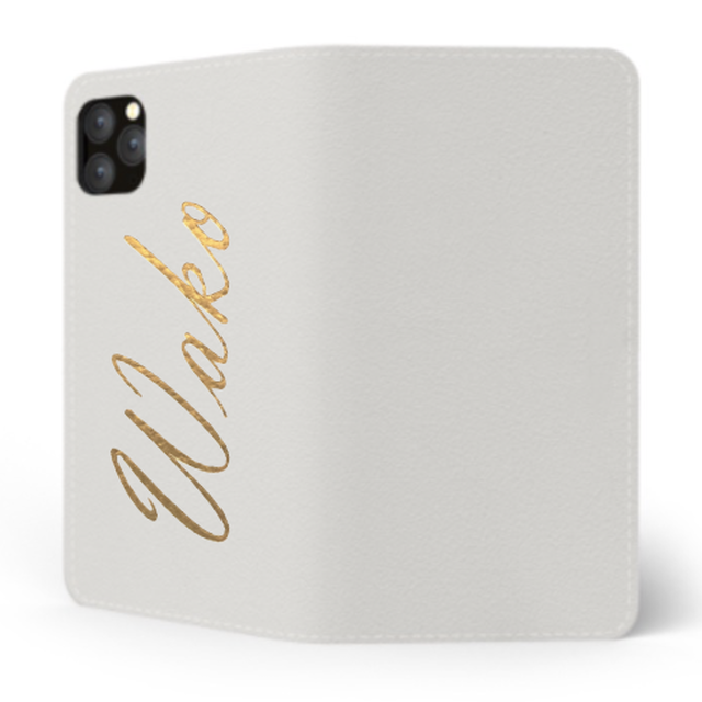 Custom Name iPhone with Premium Smooth Leather Case (Limited/9月分数量限定) Book Cover