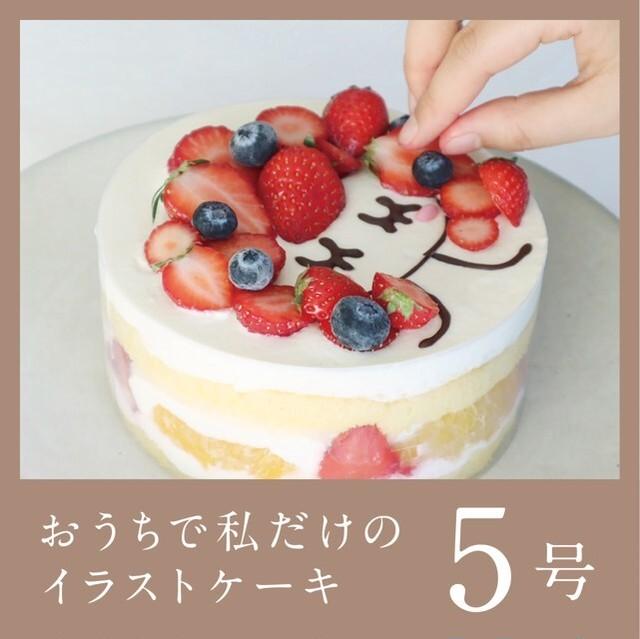 おうちでわたしだけのイラストケーキ 5号【送料・税込】