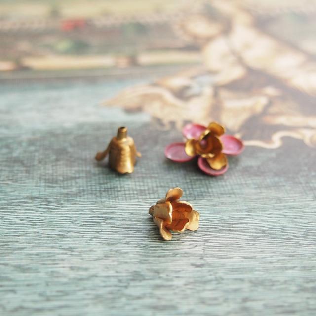 ヴィンテージ 銅のチューリップ(2コ)