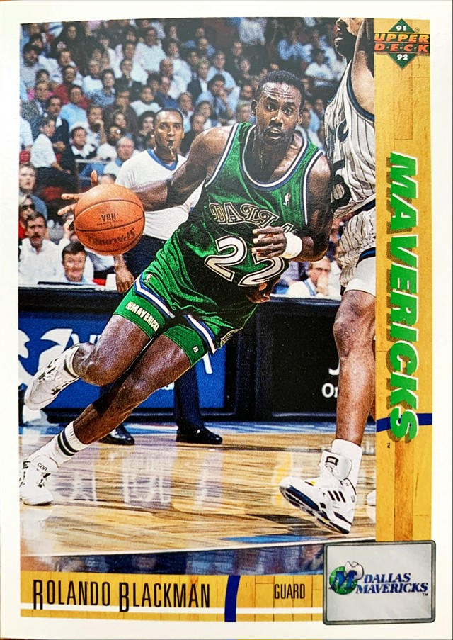 NBAカード 91-92UPPERDECK Rolando Blackman #154 MAVERICKS