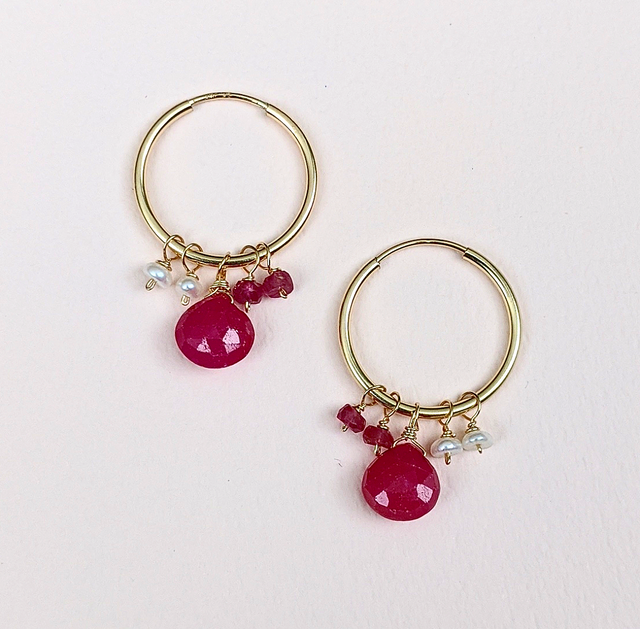 Ruby & Pearl earrings | MIHO meets RUKUS