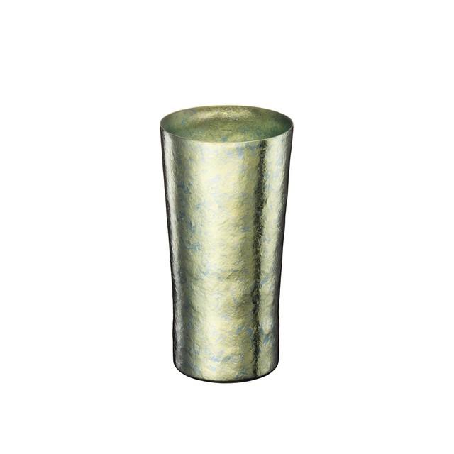 SUSgallery (サスギャラリー) 真空チタンカップ TITANESS Tumbler Basic line 【Pilsner Lime Green 350ml】