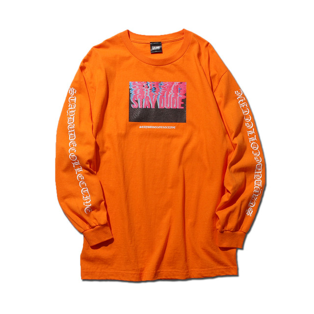 【STAY DUDE COLLECTIVE】Melting Logo LS Tee (ORAGGE)