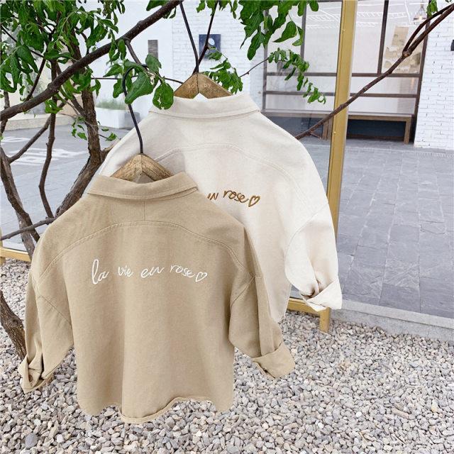 【お取り寄せ】80-130シンプルシャツ 赤ちゃん 子供 秋冬