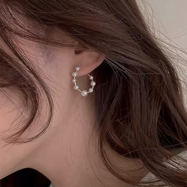 mini pearl round pierce