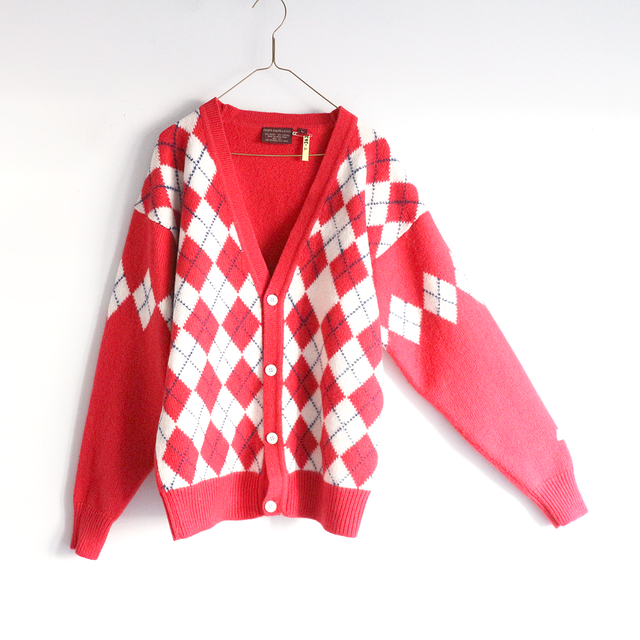argyle pattern knit_CD