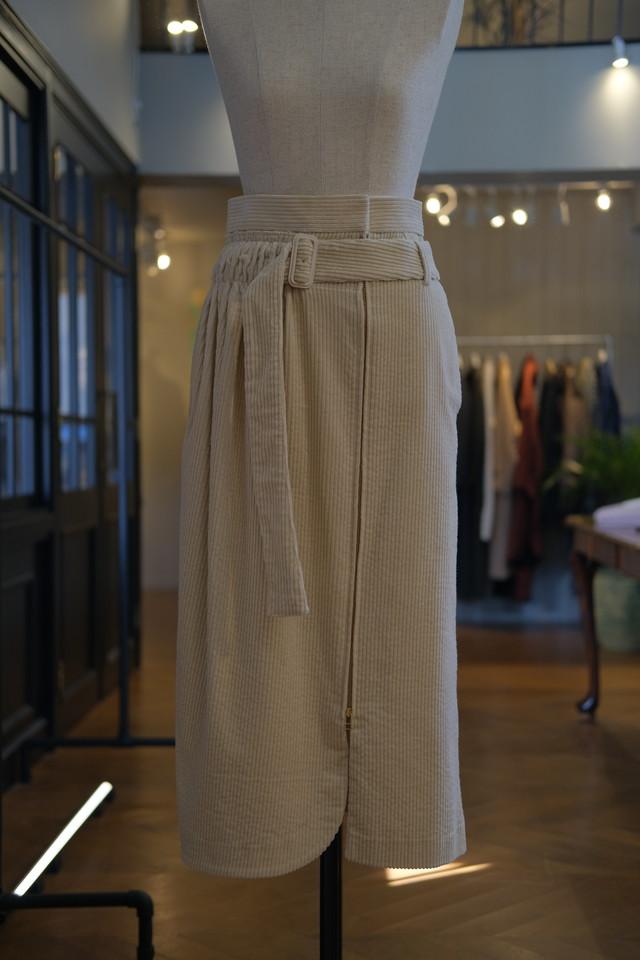 【AKIKOAOKI】lap middle skirt