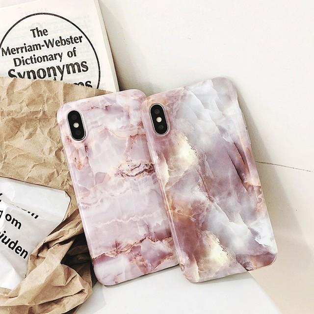 【送料200円】全2種マーブル大理石柄iPhoneケース