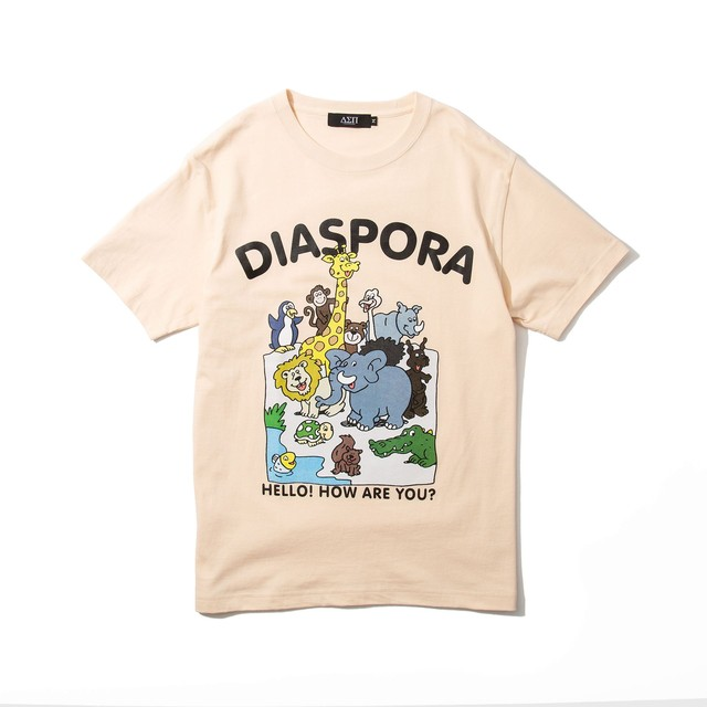 DIASPORA SKATEBOARDS Greeting Tee Natural