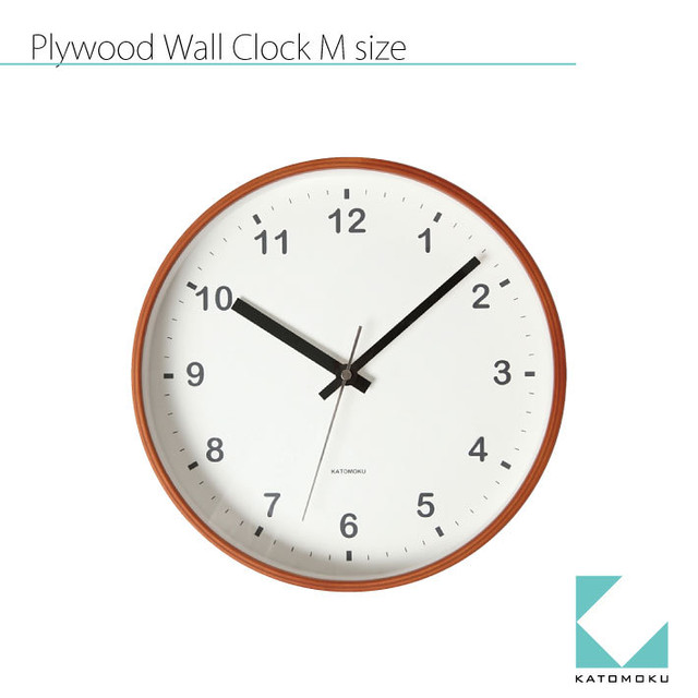 KATOMOKU plywood wall clock km-36M