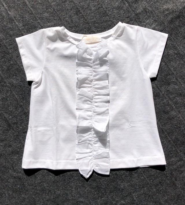 Malvi フリル白Tシャツ