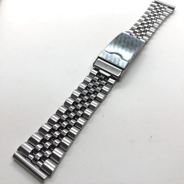 BAMBI 時計バンド ジュビリー(5連) ブレスレット ステンレス ストレート管18mm  弓釻20mm 腕時計ベルト