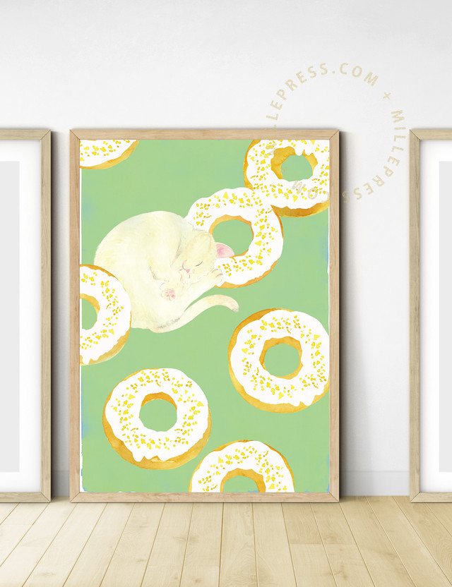 """【Cat and delicious time """"lemon donuts""""】 MP156-017C"""