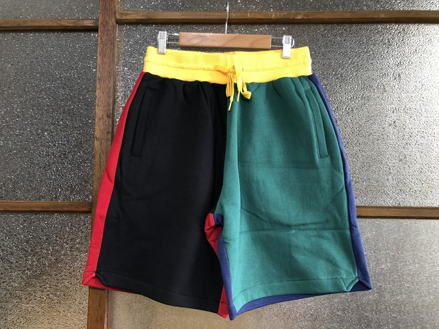 MITCHELL & NESS COLORBLOCKED FLEECE SHORT PANTS (MULTI)