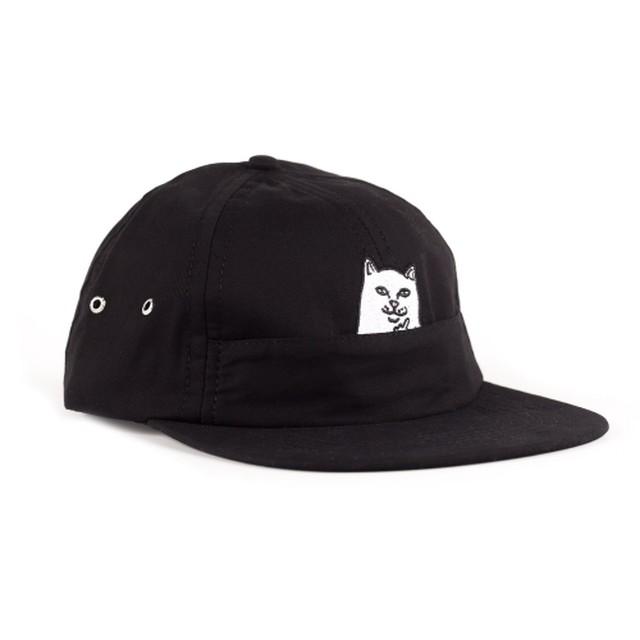 RIPNDIP リップンディップ LORD NERMAL 6 PANEL POCKET HAT (BLACK)