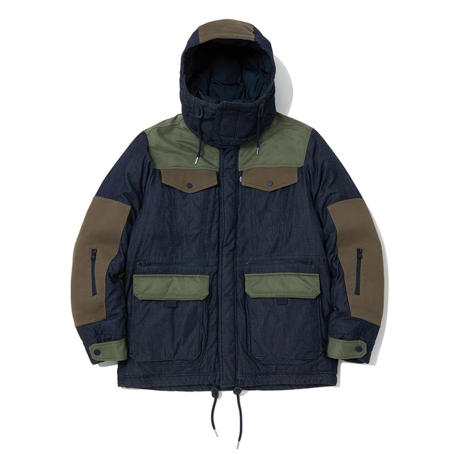 WM x LMC DOWN JACKET - INDIGO